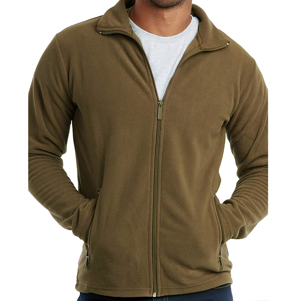 DailyWear Mens Full-Zip Polar Fleece Jacket