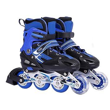 Sunkini Niños ajustables patines en línea iluminados con luz completa ruedas Hombres y mujeres patines ruedas