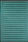 Mad Mats® Uber Turk Indoor/Outdoor Floor Mat, 4 by 6-Feet, Black Aqua