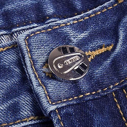 Ssig Moda Cintura Ripped Pantalones Jeans Pantalones Tamaños Denim Rectos Loose Soft Ropa Pants Media Cotton Colour Cómodos Mens Cómodo CXxwIw5q7