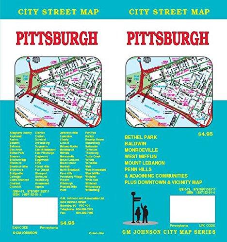 Pittsburgh, PA Street Map: GM Johnson: 9781897152911: Amazon.com: Books