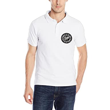 Hombres Simple Plan banda Logo SP Casual Polo T-Shirt: Amazon.es ...