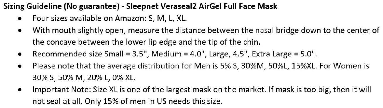 _Sleepnet_Veraseal2_AirGel_Full_Face_Mask-(Size M) - Hospital Grade!