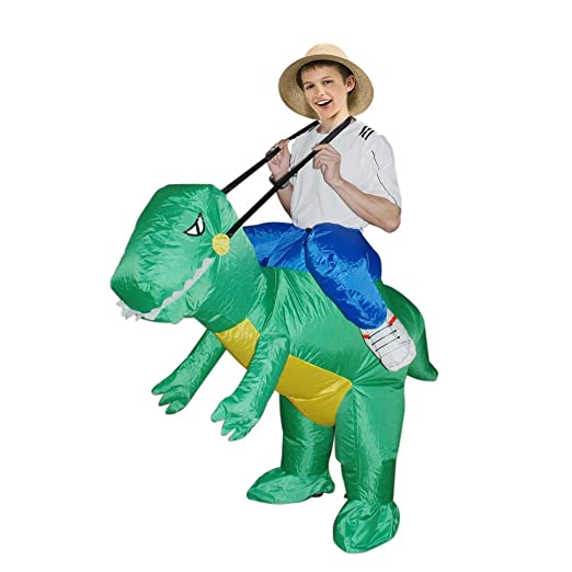 Amazon Com Inflatable Dinosaur Costume Fan Operated Kids Size