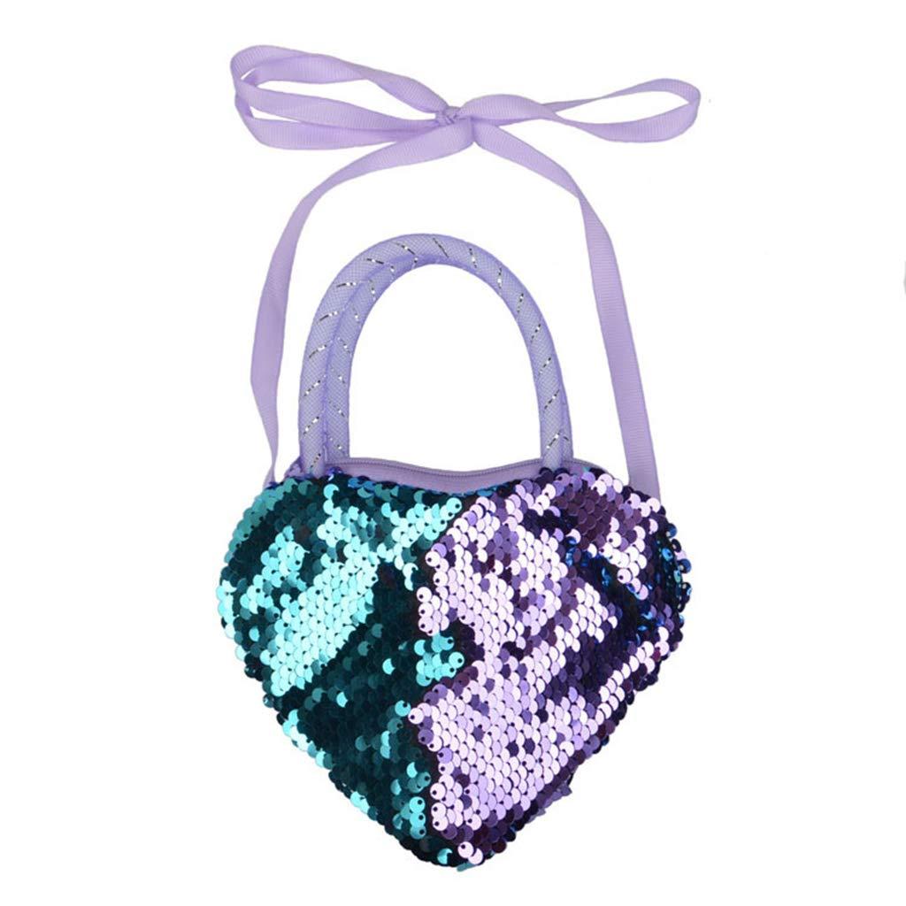 Kuvuiuee Cute Heart Shape Girls Kids Purse Handbag Kids Crossbody Shoulder Bag Coin Holder 01