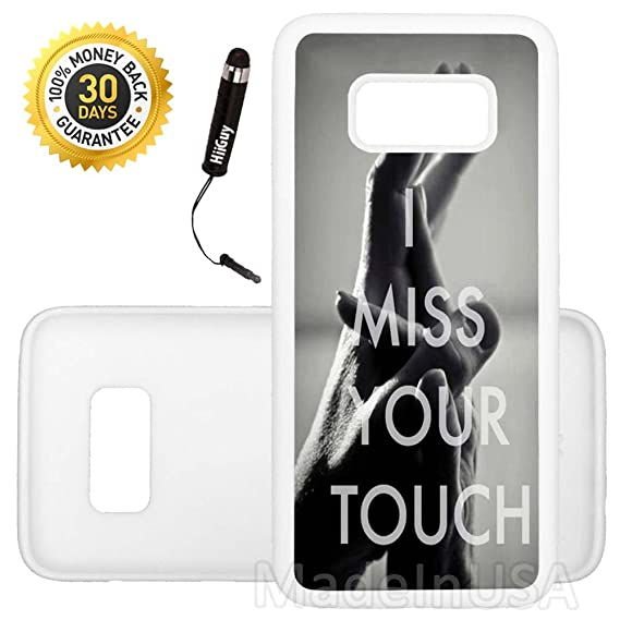 custom galaxy s8 plus case i miss your touch edge to edge