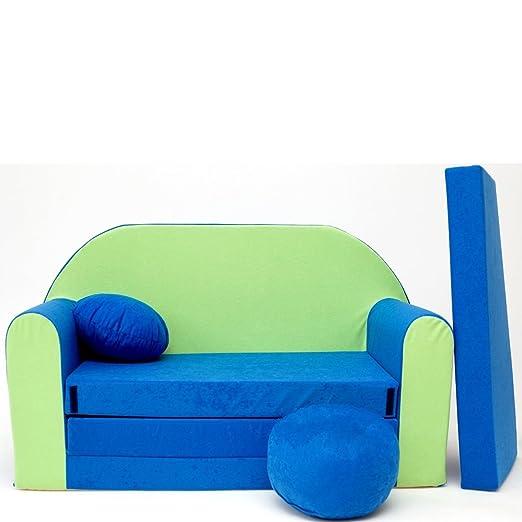 Sofá para niños N1 Bebé Mini sofá sofá Cama puf Almohada 3 ...