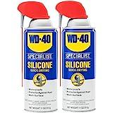 WD-40 Specialist Silicone Lubricant with Smart Straw Sprays 2 Ways, Twin-Pack, 11 OZ