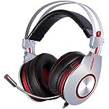 XIBERIA K5 USB Cómodo Auricular del Juego que sobre orejas para PC con Micrófono Flexible de Sonido Envolvente