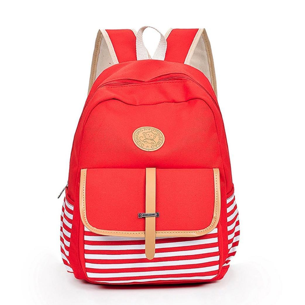 Leisure Backpack for Girls Teenage Canvas Shoulder Bookbags School Travel Backpack Bag Bookbags Daypack