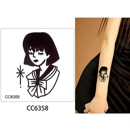 adgkitb 5 Piezas Tatuaje Temporal Pegatina Belleza Mujer patrón ...