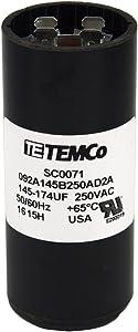 TEMCo Motor Start Capacitor SC0071-220-250 VAC Volts 145-174 uf Round 50/60 Hz AC Electric - Lot-1