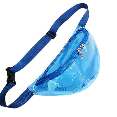 Cellphones & Telecommunications Women Bum Pouch Fanny Plastic Clear Pack Transparent Hologram Belt Waist Wallet Cases