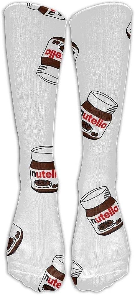 Style Unisex Socks Casual Knee High Stockings Nutella Cotton Socks One Size