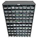 NEF Bolt Bin, Nut Bolt and Washer Assortment,Grade 5 Coarse USS Fasteners, Two 40 Hole Metal Storage Bins, Qty (2630)