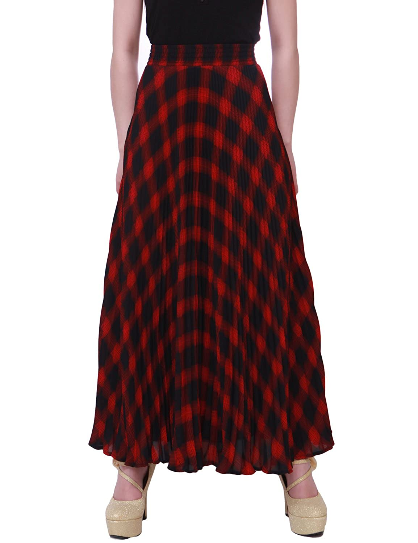 Relaxfeel Women's High Waist Formal Long Maxi Pleated Skirt