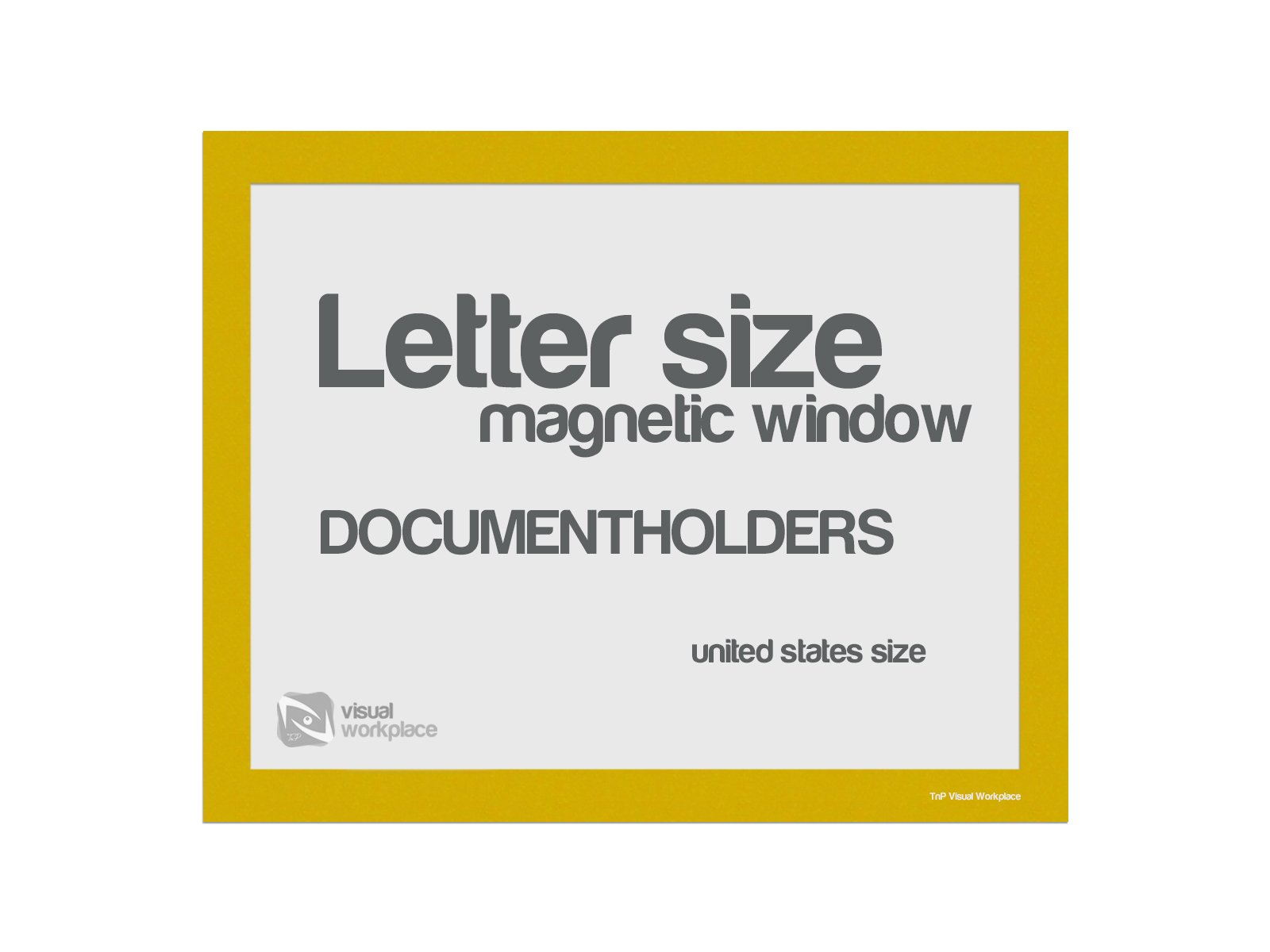Magnetic Window Document Holder, Letter, Yellow, Pack of 5