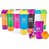 SmartShake Slim(スマートシェイク スリム) MIX COLOR 500ml 多機能プロテインシェイカー