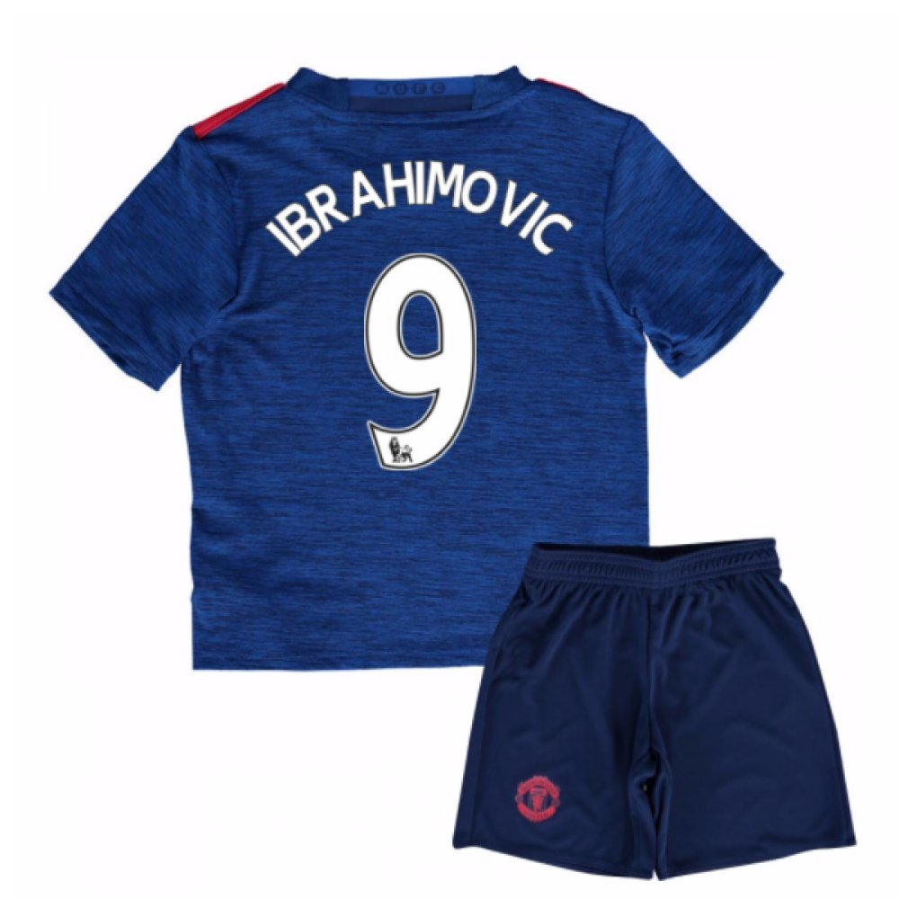 UKSoccershop 2016-17 Man United Away Mini Kit (Zlatan Ibrahimovic 9)
