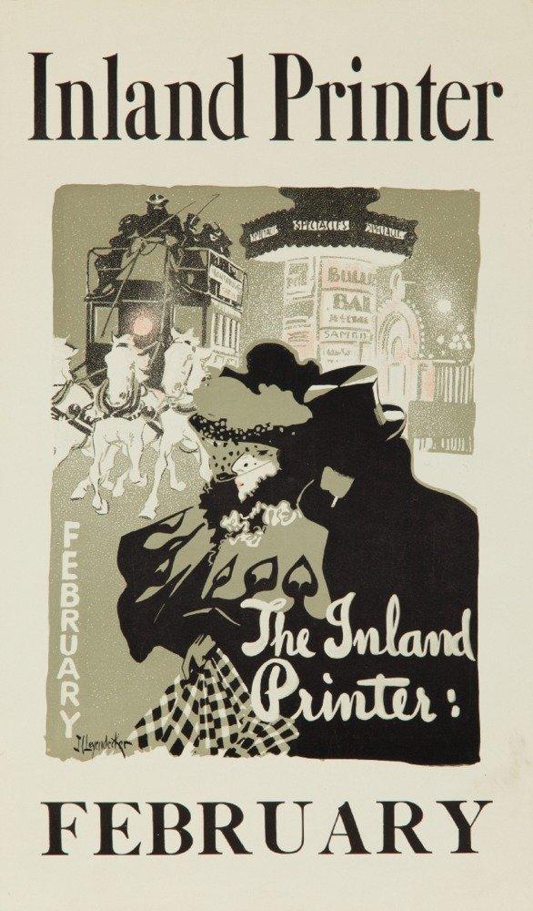 The Inlandプリンタ – 2月ヴィンテージポスター(アーティスト: Leyendecker , Joseph C。) USA C。1897 12 x 18 Art Print LANT-63186-12x18 B017Z7C8UA  12 x 18 Art Print