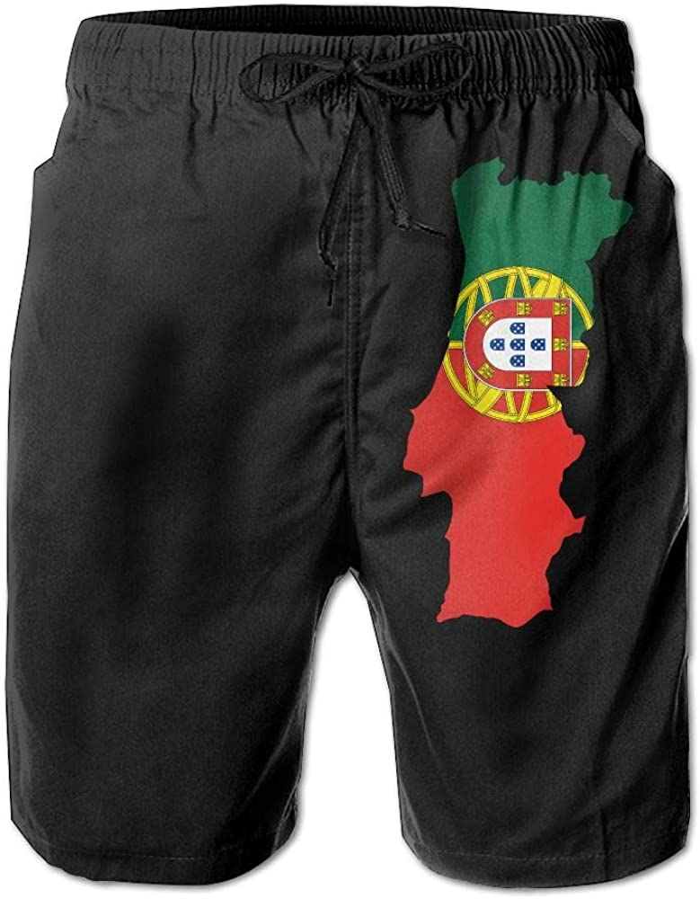 BSKZ@SH Mens Swim Trunks Loose Portugal Map 100/% Polyester Sports Shorts