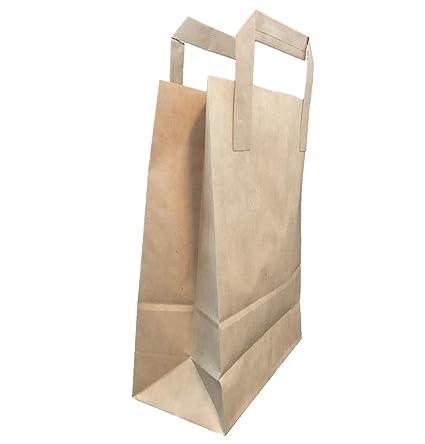 evvs 25 bolsas de papel marrón de papel 100% reciclado 18 x ...