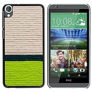 TopCaseStore / la caja del caucho duro de la cubierta de protección de la piel - Wall White Green Lines Street City - HTC Desire 820