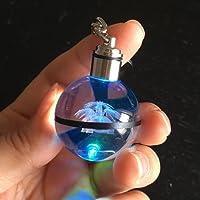 (Venusaur) - S-SO 3D Venusaur Pokemon crystal ball LED 7 colour lighting up Keychain