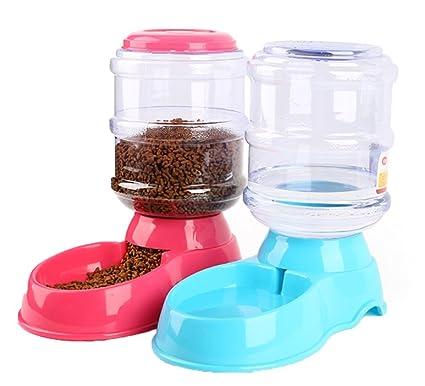 Rngler Alimentador Automático De Mascotas,Mascotas Dispensador De Agua,Gatos ,Perros,Capacidad