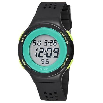 TTLIFE Unisexo Reloj Correa Negra Hombre Relojes de Pulsera de Moda Dial Grande Deporte Relojes Siliconas