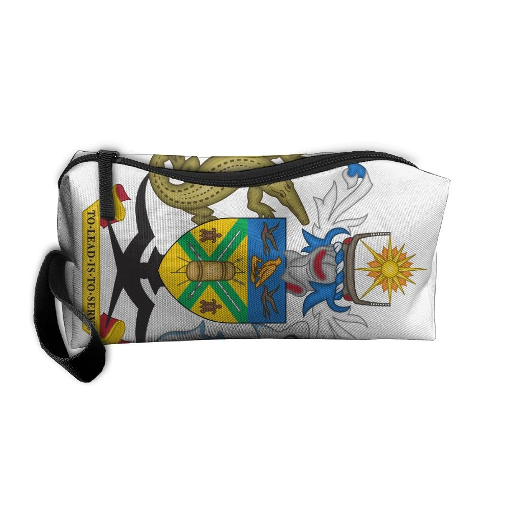 HSs4AD Coat Of Arms Of The Solomon Islands Cosmetic Bag Travel Toiletry Bag Portable Makeup Pouch Hanging Organizer Bag
