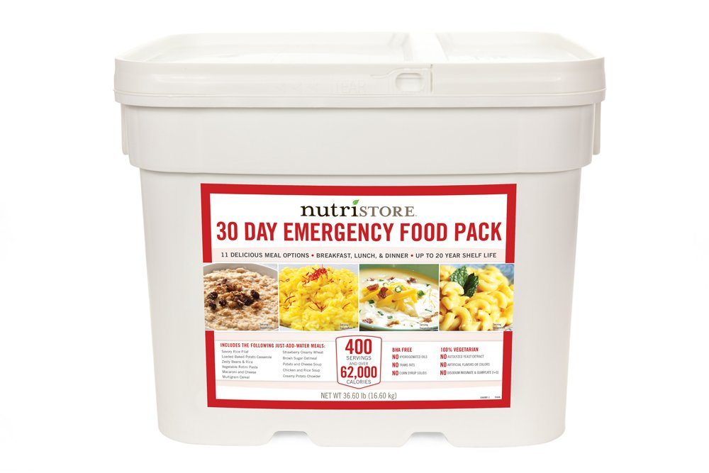 Nutristore 30 Day Emergency Food Pack provides you a complete emergency food supply for one person for an entire month