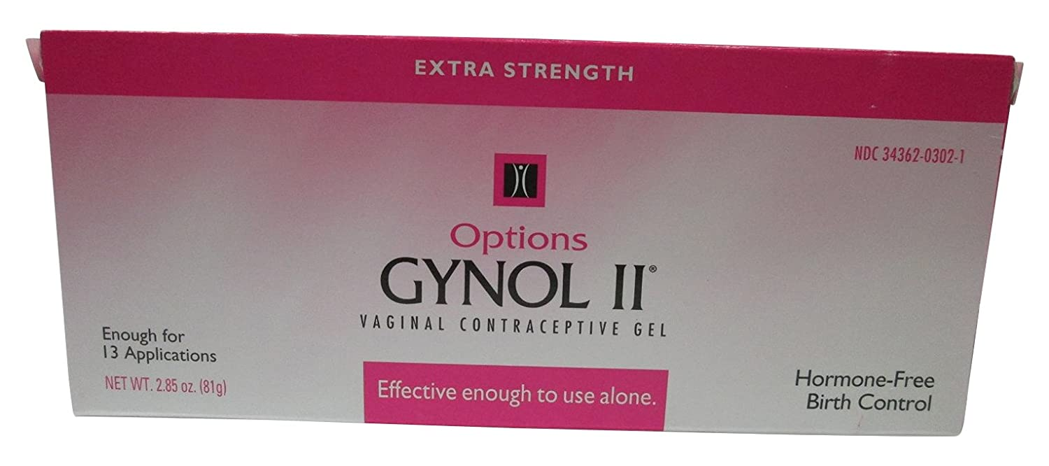 Amazon Com Options Gynol Ii Extra Strength Vaginal Contraceptive Jelly 2  Count Health Personal Care