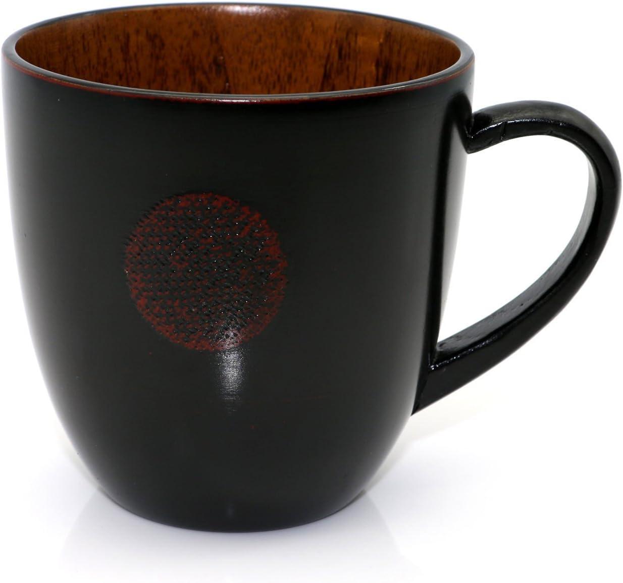OYL Jujube Wood Coffee Mug,Japanese Beer Mug,Handcraft Dining Milk Cup,Reusable Tea Cup,Scald Proof,Safe and Eco Friendly,300 ml
