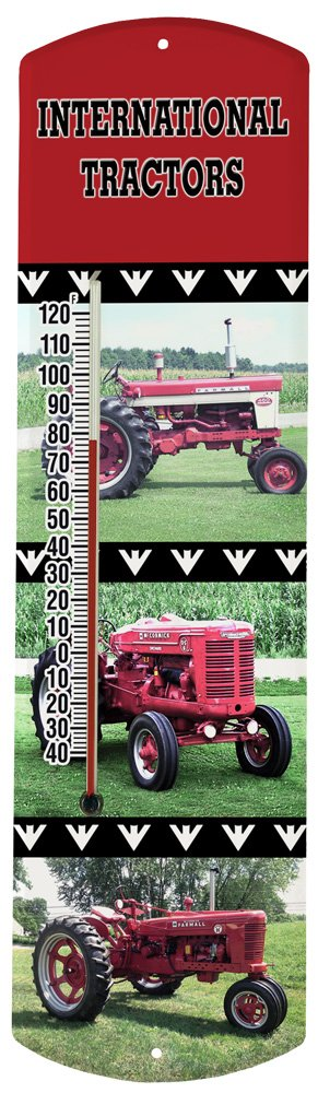 Heritage America by MORCO 375TINT Tractor-International Outdoor or Indoor Thermometer, 20-Inch