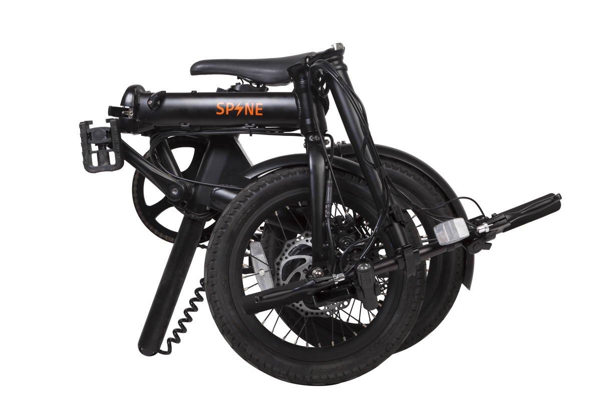 Spine | Ebike Bicicleta Eléctrica Plegable 16 | Mod. Milano Zona3 | Color Negro: Amazon.es: Deportes y aire libre