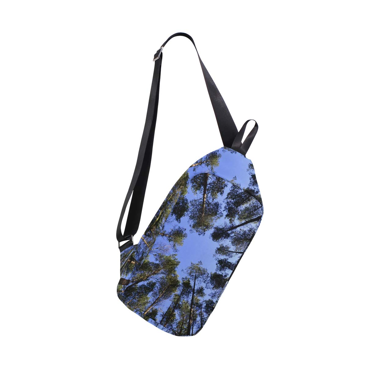 AHOMY Forests Sky Foliage From The Bottom Of Green Messenger Bag Small Travel School Sling Bag Crossbody Bag