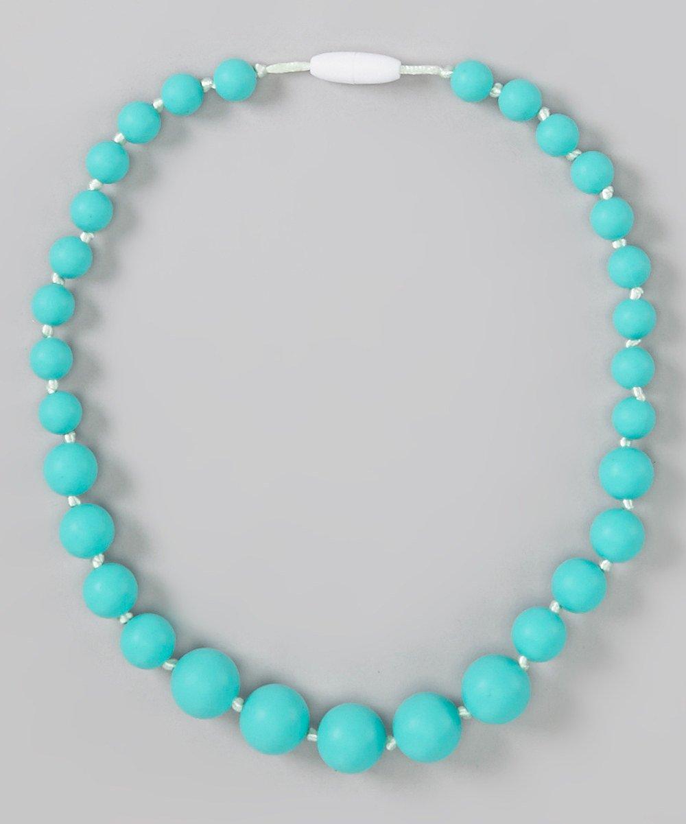 GumJunior 'Leilani' Graduated Silicone Bead Necklace - Kids 3+ (Turquoise) GUMEEZ
