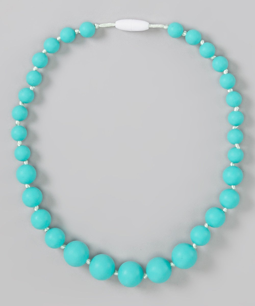 GumJunior 'Leilani' Graduated Silicone Bead Necklace - Kids 3+ (Turquoise)