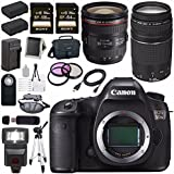 Canon EOS 5DS 5D S DSLR Camera + EF 24-70mm f/4L IS USM Lens + Canon EF 75-300mm f/4-5.6 III Telephoto Zoom Lens + LPE-6 Lithium Ion Battery + Canon 100ES EOS shoulder bag Bundle 9