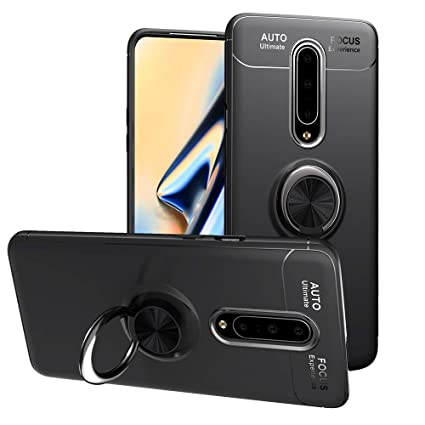 Topnow for OnePlus 7 Pro Case, 360 Degree Rotating Ring Kickstand Case Shockproof Impact Protection Function Can Work with Magnetic Car Mount case - ...