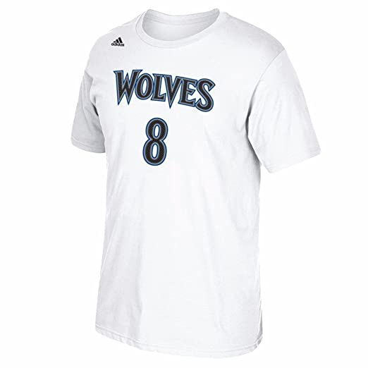 Amazon.com : Zach Lavine Minnesota Timberwolves NBA Adidas White Name & Number Player Jersey Team Color T-Shirt For Men : Sports & Outdoors