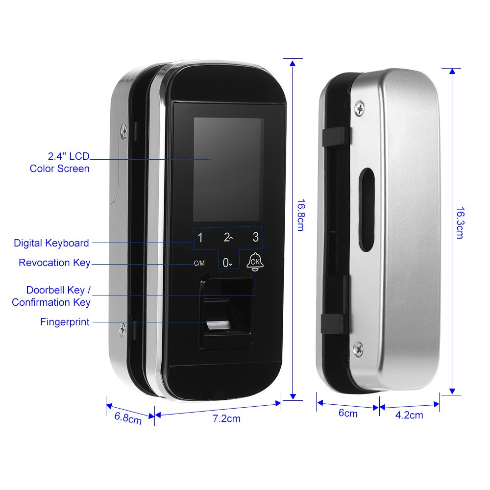 OWSOO Sistema de Huella Digital Cerradura Biométrica Sistema ...