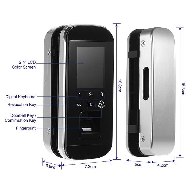 OWSOO Sistema de Huella Digital Cerradura Biométrica Sistema de Control de Acceso de Puerta Inteligente Cerradura Electrónica de Puerta sin Llave con ...