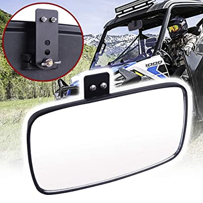 UNIGT Rear View Mirror Replacement for Polaris 2015 2016 2020 2020 2020 2020 Ranger Midsize 500 570 900 1000 XP 4 Crew with Pro-Fit Cage Factory Mirror Tap Ranger Center Mirror Accessories 2879969: Automotive