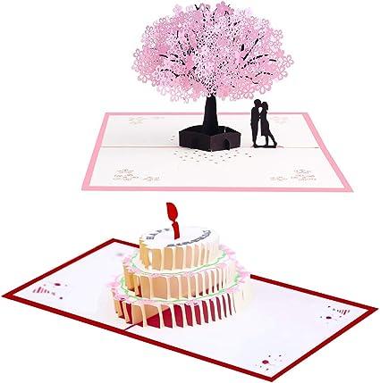 2 Anniversario Matrimonio.Biglietto D Auguri Matrimonio D Amore Per Compleanno Romantico