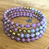 Paper Bead East African Infinity Wrap Bracelet - Purple - Fair Trade BeadforLife Jewelry