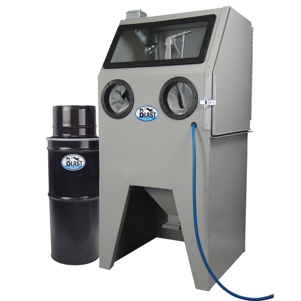 TP Tools USA 2828 Skat Blast Sandblast Sandblasting Cabinet with HEPA Vacuum, 28''W x 28''D x 28''H Work Area, Made in USA