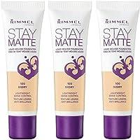 3x Rimmel Stay Matte Liquid Mousse Foundation - 100 Ivory