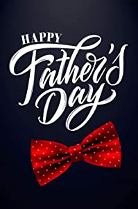 Texupday Happy Father's Day Red Spotted Bow Tie Decoration Garden Flag Outdoor Yard Flag 12